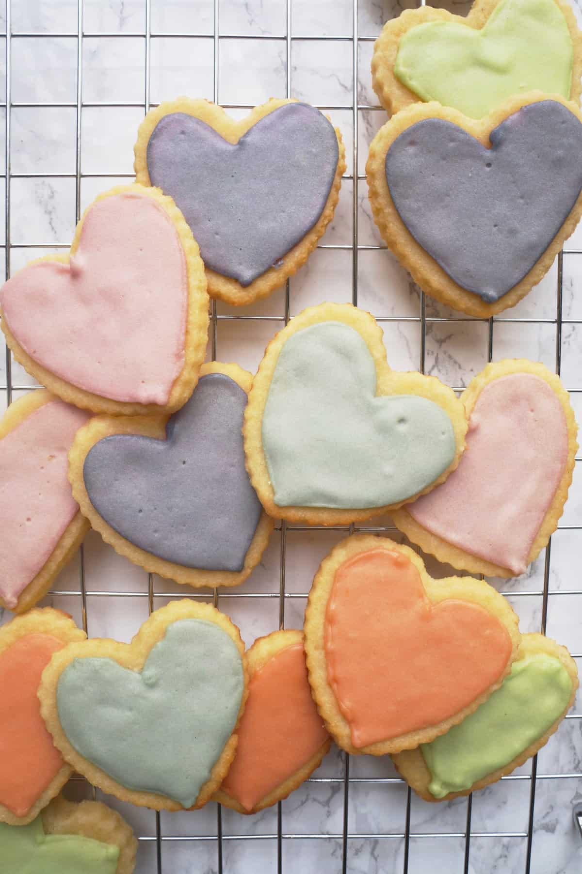 Clean Keto Coconut Heart Sugar Cookies