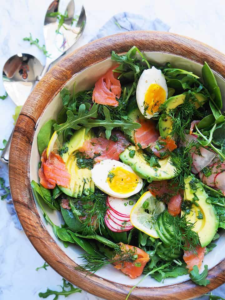 smoked-salmon-salad-with-lemon-dill-vinaigrette