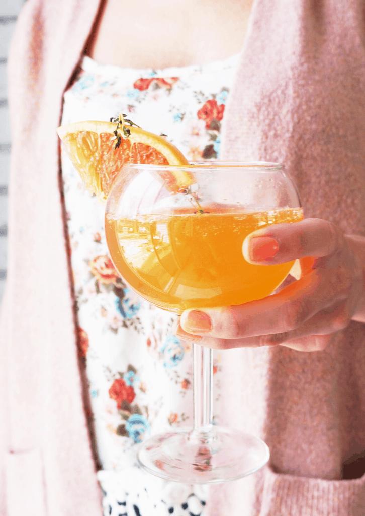 Grapefruit and Elderflower Keto Mimosas