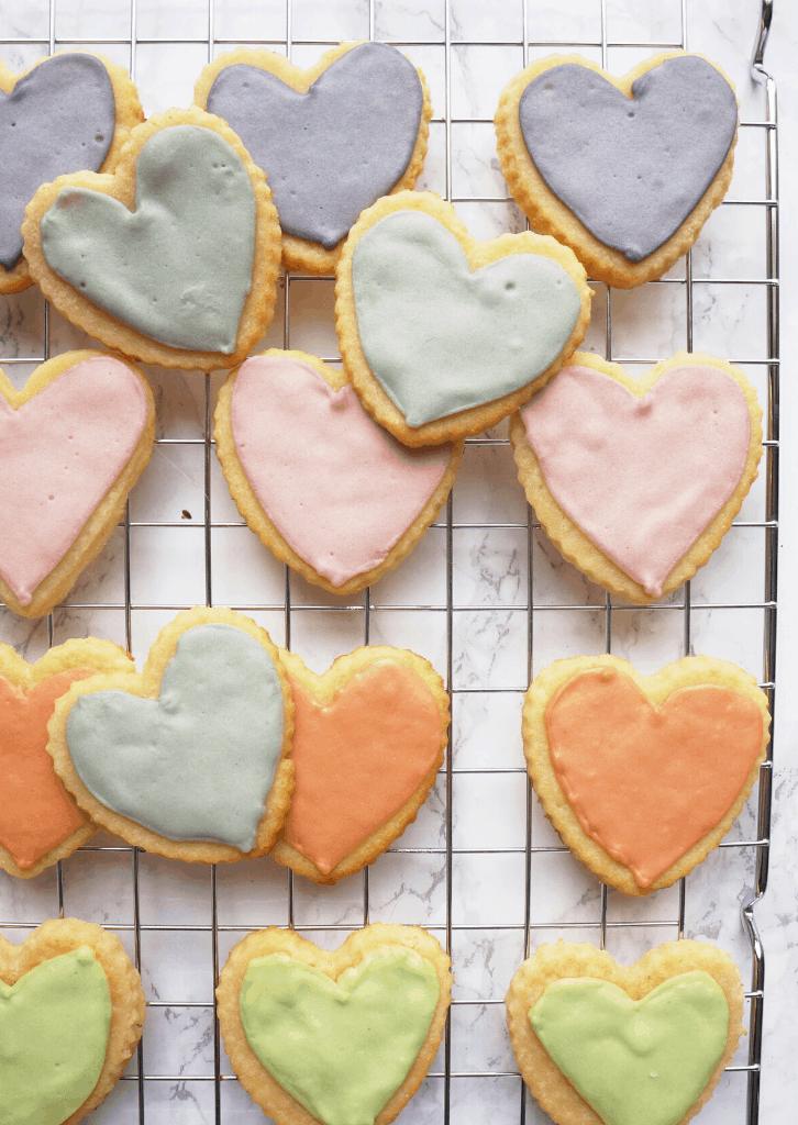 Keto Coconut Heart Sugar Cookies