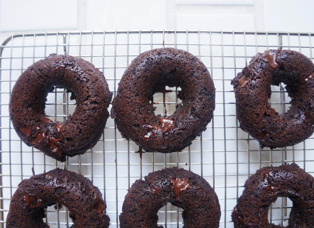 Clean Keto Triple Chocolate Doughnuts
