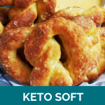 Clean Keto Soft Pretzels with Cheese Sauce