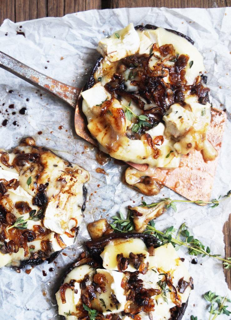 Keto Portobello Mushrooms and Brie Cheese