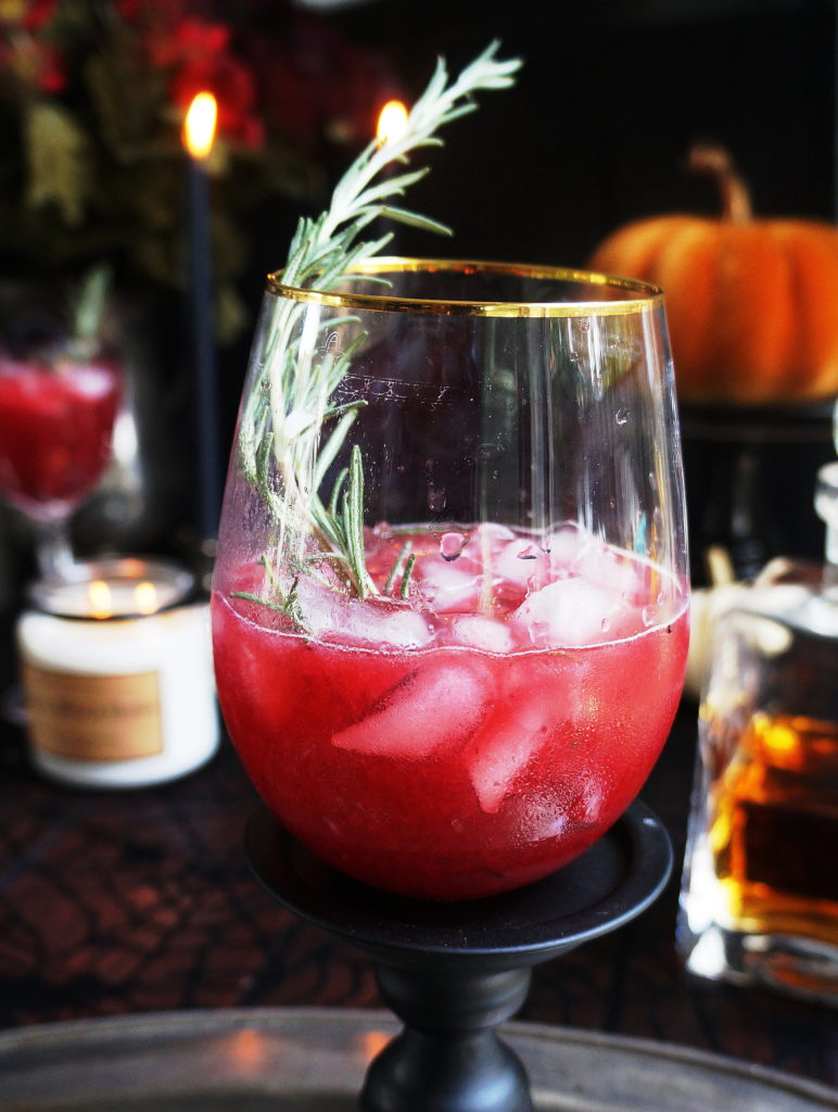 Halloween Bourbon Keto Cocktail