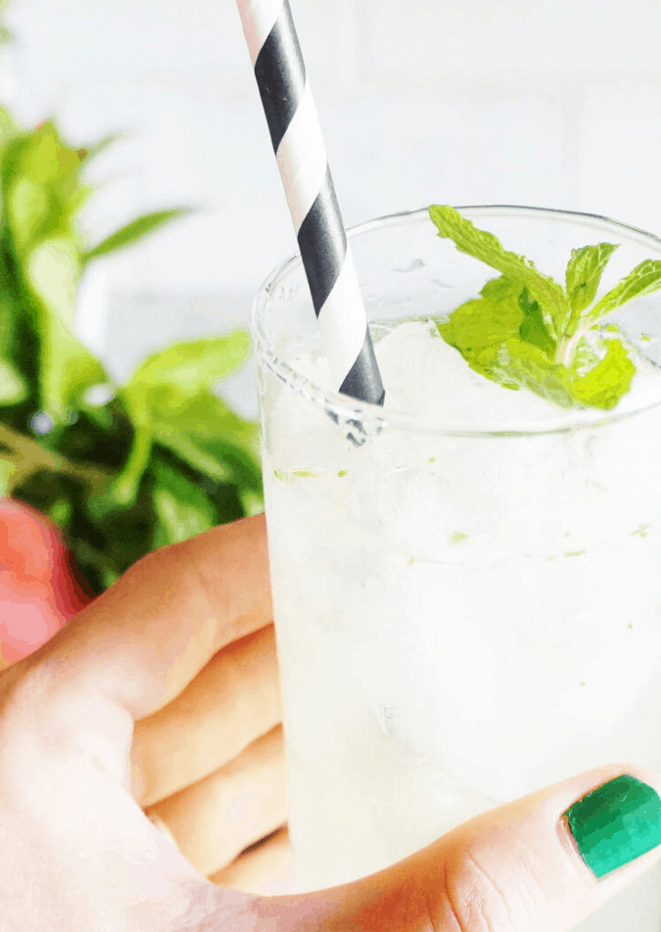Botanical Peach Ginger Mint Keto Cocktail