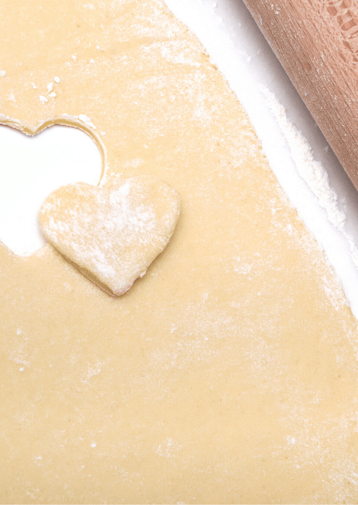 heart shape cookie dough