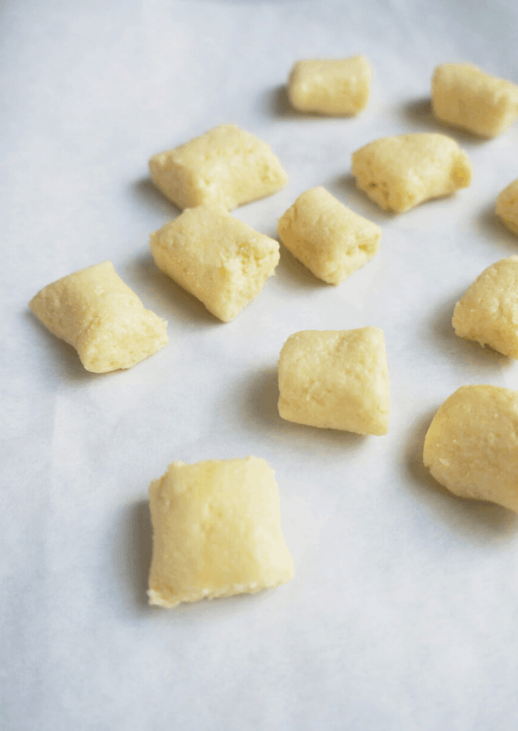 cut out gnocchi dough square