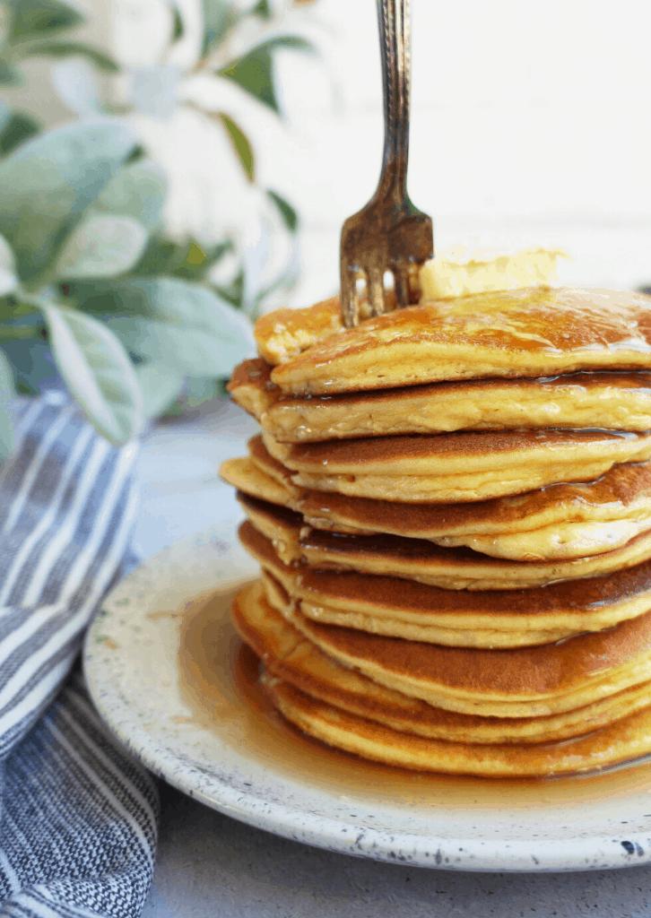 stack of keto pancakes