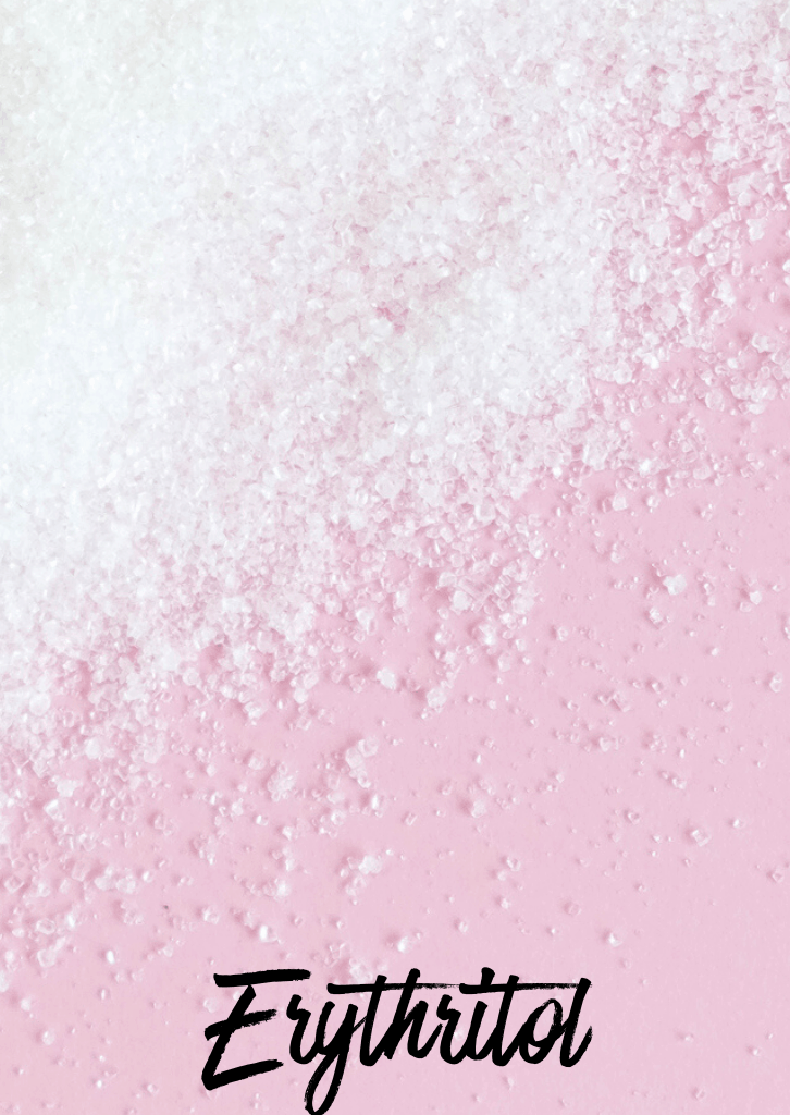 keto erythritol spread on pink plate