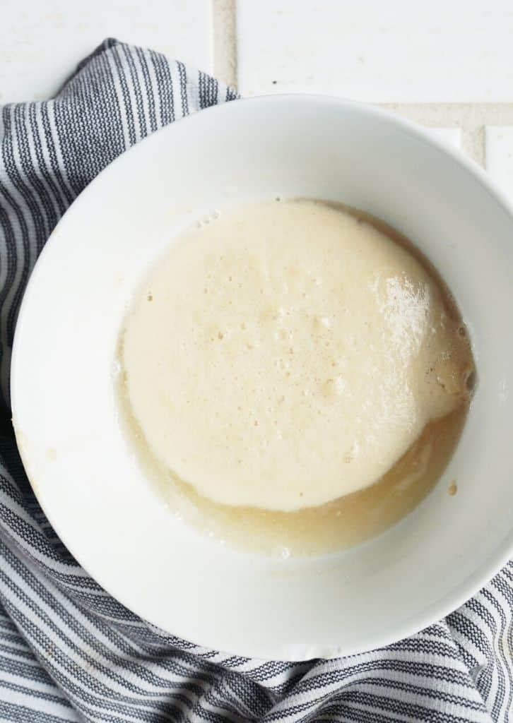 yeast rising in a bowl