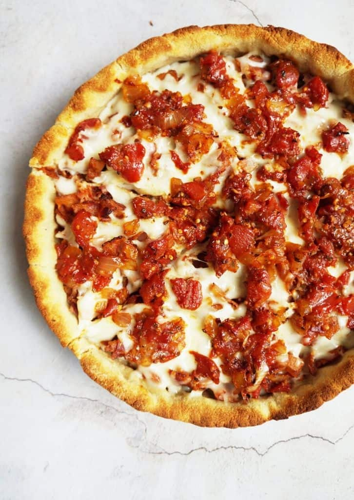 keto chicago style pizza