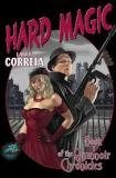"<span class=""item""><span class=""fn title-book"">HARD MAGIC </span><span class=""title-author""> by Larry Correia</span></span>"