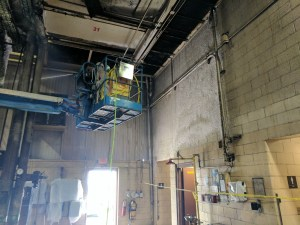 Factory Cleaning and Machine degreasing with low moisture pressure washing by Clean Metro, Inc.