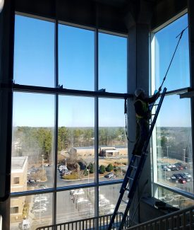 Multi-Story industrial Construction Cleaning Window Cleaning
