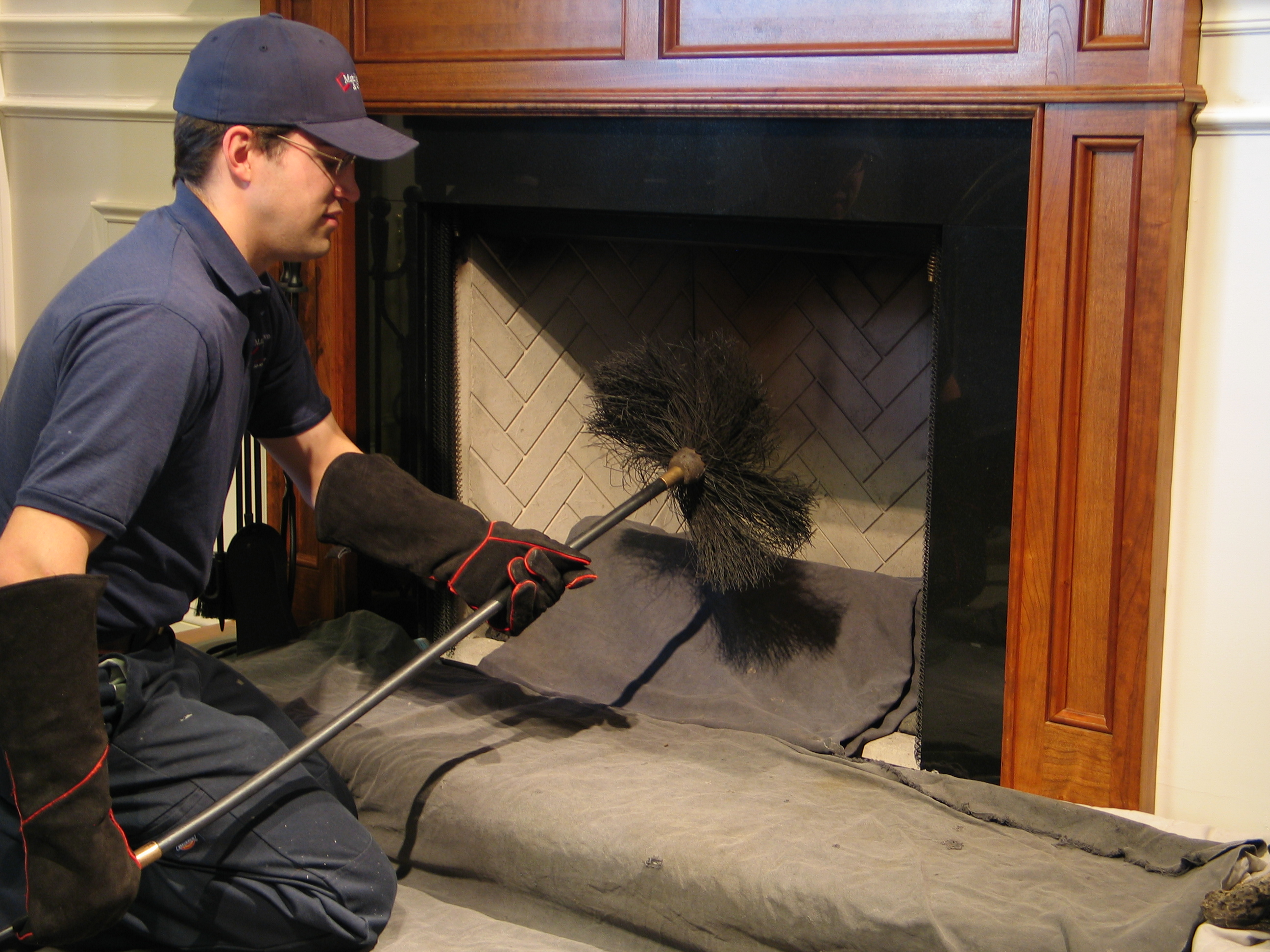 Fireplace Flue Cleaning