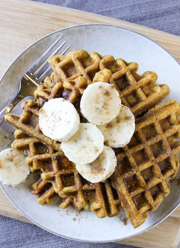 Pumpkin Banana Waffles