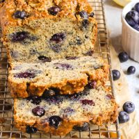 Almond Flour Blueberry Lemon Bread