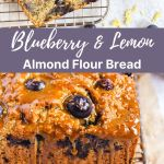 Pinterest pin for blueberry lemon bread