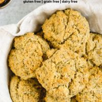 Pinterest pin for almond flour biscuits