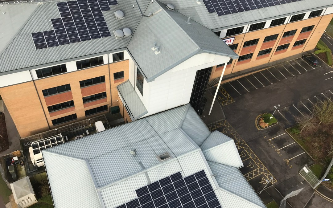 Solar Panels Cleaned At Screwfix HQ In Yeovil For Solarcentury
