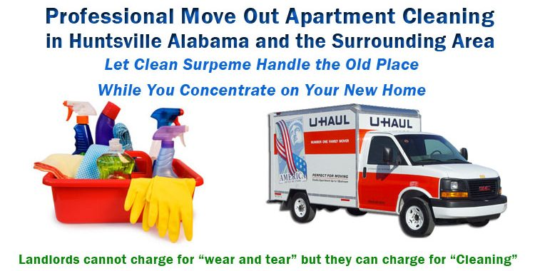 Move Out Apartment Cleaning in Huntsville AL  Clean Supreme LLC