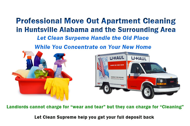 Move Out Apartment Cleaning in Huntsville AL  Clean