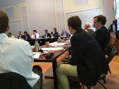 Attendees participate in discussion