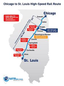 Chicago-St. Louis high speed train route (ILDOT)