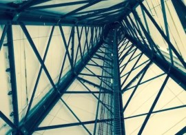 wind turbine tower by Tina Casey