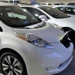 Nissan LEAF and Tesla Model S Charging