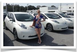 Nissan LEAF driver