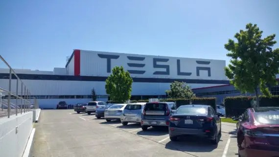 Tesla Fremont factory parking 3