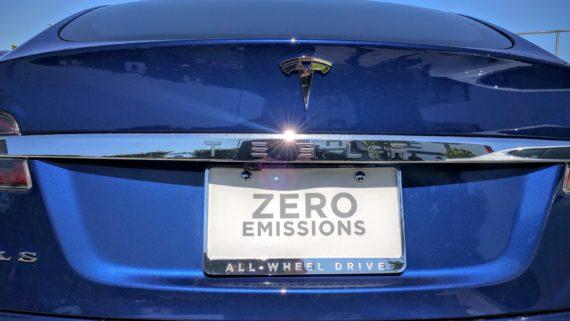Tesla Model X blue 1