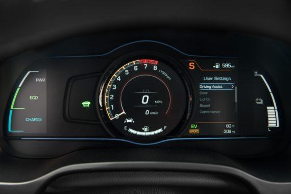 2017 Hyundai Ioniq Hybrid dash sport mode