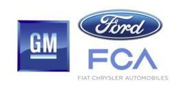 Big 3 auto companies logos