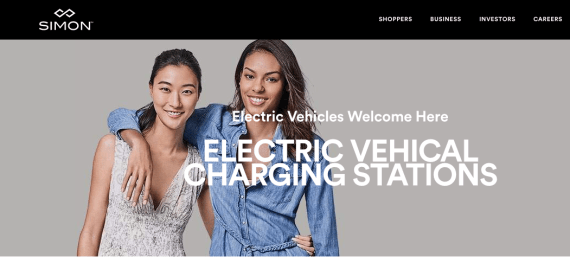 Simon Outlets - EVs Welcome Here