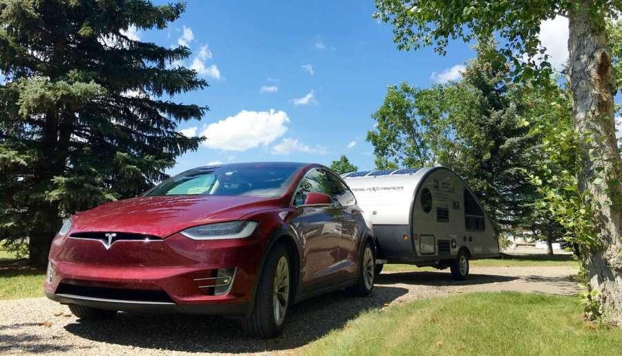 Tesla Model X towing