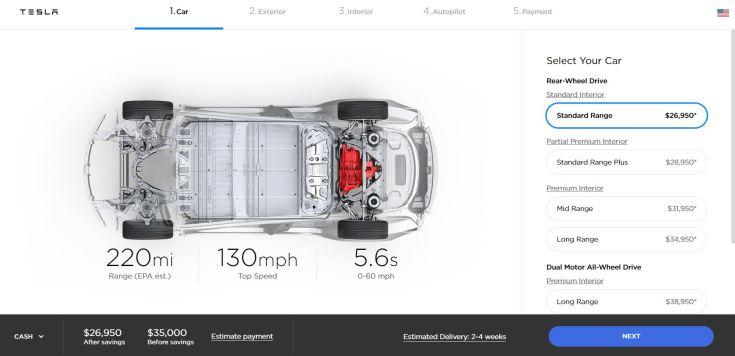 Tesla Model 3 SR