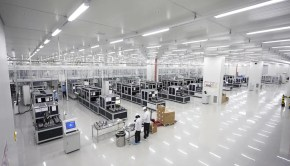 Hanwha solar panel factory
