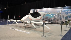 NBAA-BACE 2019 UAM Airbus Vahana eVTOL Display. Photo: Nicolas Zart