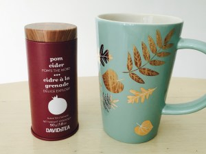Tea tastes better from beautiful mugs. We are enjoying powerful Pom Cider tea from our new Light Sky Leaf Perfect Mug.