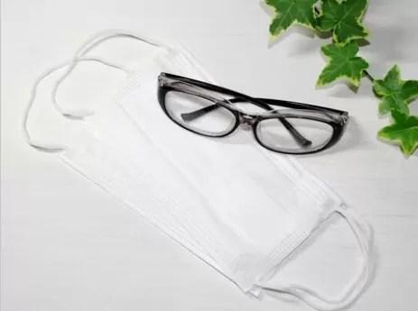 マスク、メガネを忘れずに!