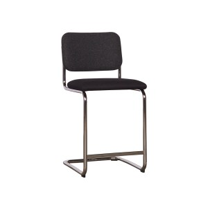 Knoll Cesca Armless Counter Stool, Grey Black