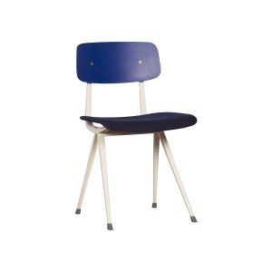HAY Result Chair, Upholstered Seat – Blue, Dark Blue