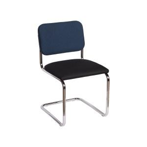 Knoll Cesca Armless Chair, Navy Black