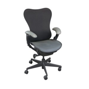 Herman Miller Mirra Mesh Seat Task Chair, Graphite & White