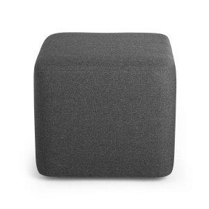 Block Party Lounge Ottoman, Dark Gray