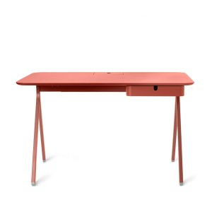 Poppin Key Desk, Brick Red 48″