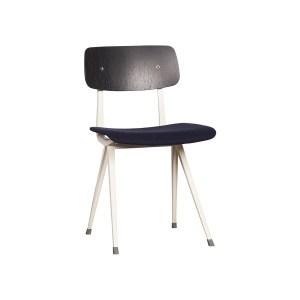 HAY Result Chair, Upholstered Seat – Dark Grey, Dark Blue