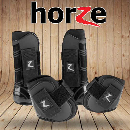 Horze Protech Tendon Fetlock Black horze tendon boots